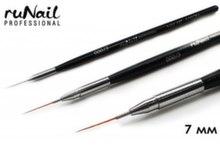 Кисть для дизайна RuNail Nail Art Nylon, 12 мм №000/3