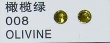 Стразы CRYSTAL GL ss10 Olivine, 100 шт