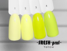 Гель-лак Fresh Prof Yellow Y01, 10ml