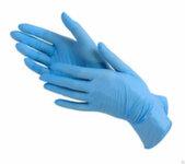 Перчатки нитриловые 1 пара размер L голубые