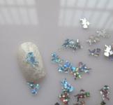 Украшение для дизайна - ангелочек пластиковый. Цвет: серебро, 500шт