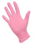 Перчатки нитриловые размер S розовые 1 пара