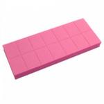 Баф мини ruNail (универсальный, розовый, 100/180), 14 шт