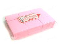 Салфетки безворсовые 4х6см, 675 штук уплотненные розовые