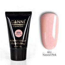 PolyGel Canni №854 Natural Pink, 45гр в тубе