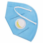 Маска защитная с респиратором для лица KN95 голубая