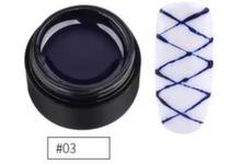 Гель-паутинка Songling №3 синяя, 5мл