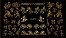 Слайдер-дизайн Diana Beauty фольгированный - GOLD106