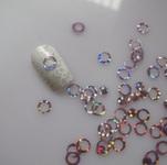 Украшение для дизайна - колечки пластиковые. Цвет: розовый, 400шт