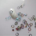 Украшение для дизайна - колечки пластиковые. Цвет: серебро, 400шт