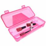 Контейнер пластиковый для инструментов 3 отделения (розовый)
