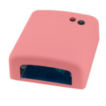 УФ Лампа 36W с таймером №818 мини. Цвет розовый
