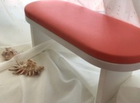 Подставка-стойка для рук маникюрная, цвет коралловый