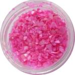 Украшение для дизайна - ракушка колотая перламутровая в банке, 10гр. Цвет розовый