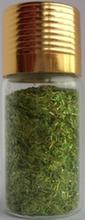 Украшение для дизайна - дождик (стружка) в бутылке, 15гр.  Цвет: зеленый
