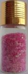 Украшение для дизайна - дождик (стружка) в бутылке, 15гр.  Цвет: розовый