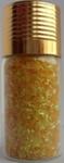 Украшение для дизайна - дождик (стружка) в бутылке, 15гр.  Цвет: желтый