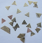 Украшение для дизайна Metallic Gold Stickers, 20 шт