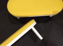 Подставка-стойка для рук маникюрная, цвет желтый