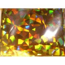 Фольга для дизайна ногтей 4cm*120 cm, в баночке. Цвет: золото (калейдоскоп)