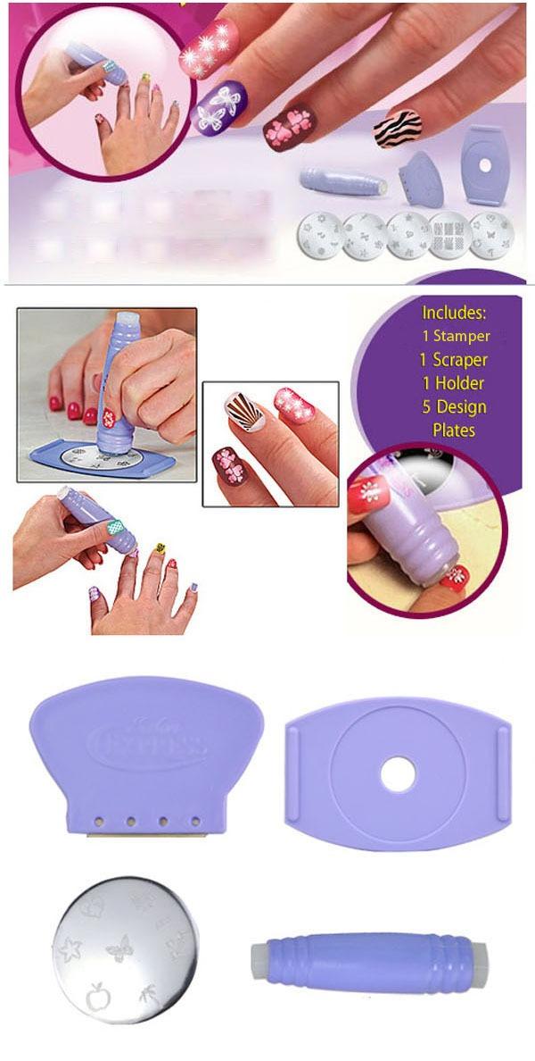 Как пользоваться печатью для маникюра